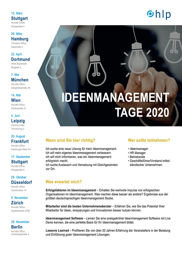 Flyer Ideenmanagement-Tage 2020