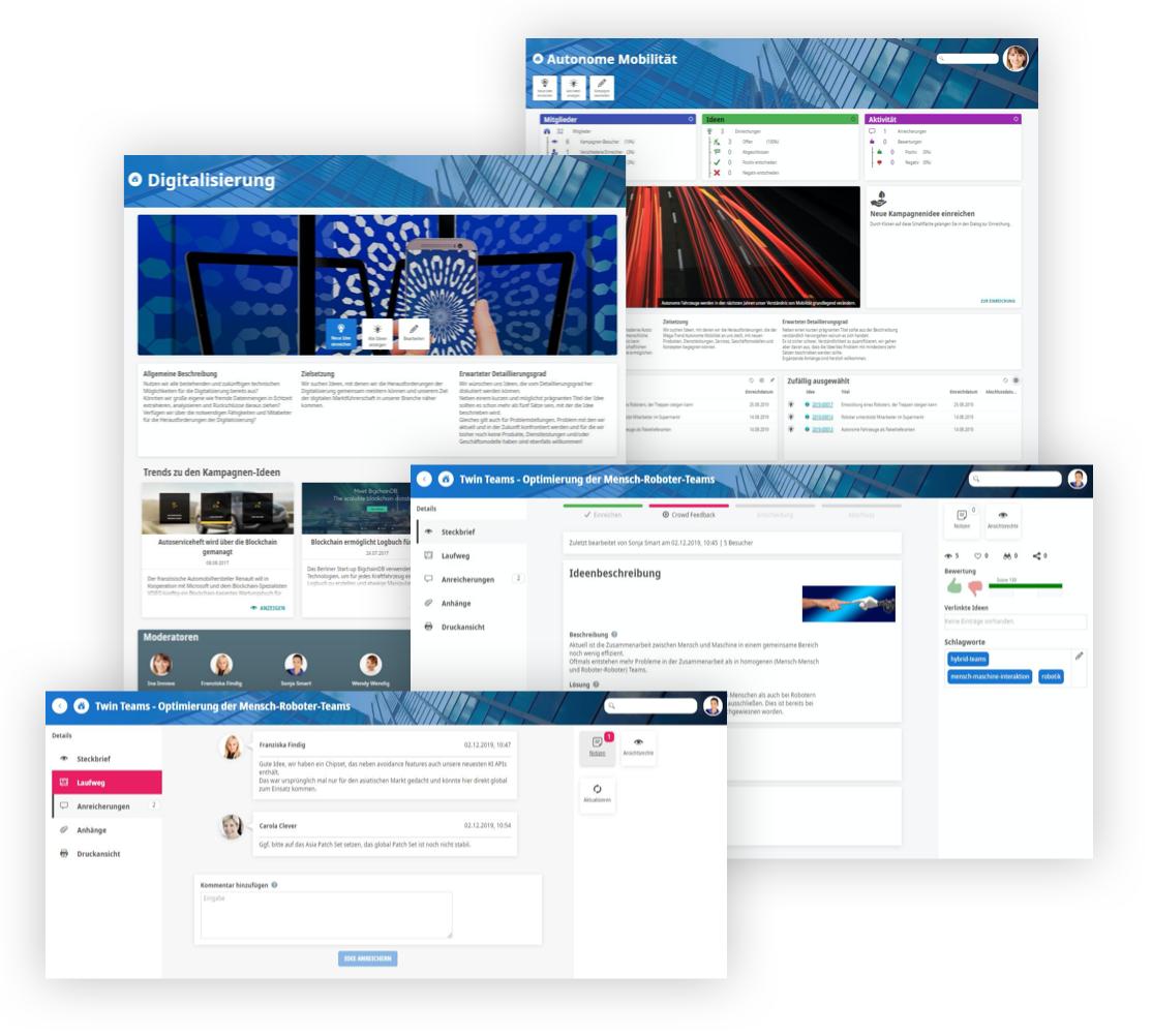 Screenshots Kampagnen Wettbewerbe